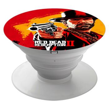 Red Dead Redemption 2, Pop Socket Λευκό Βάση Στήριξης Κινητού στο Χέρι
