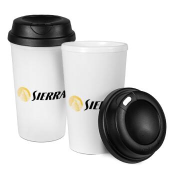 SIERRA, Κούπα ταξιδιού πλαστικό (BPA-FREE) με καπάκι βιδωτό, διπλού τοιχώματος (θερμό) 330ml (1 τεμάχιο)