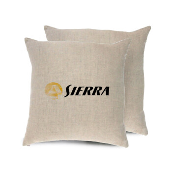 SIERRA, Μαξιλάρι καναπέ ΛΙΝΟ 40x40cm περιέχεται το γέμισμα