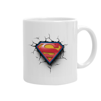 Superman cracked, Κούπα, κεραμική, 330ml (1 τεμάχιο)