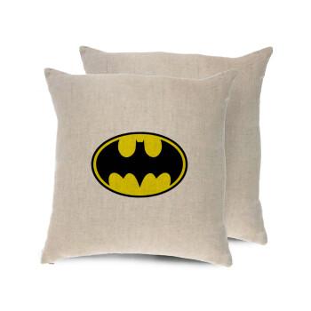 Batman, Μαξιλάρι καναπέ ΛΙΝΟ 40x40cm περιέχεται το γέμισμα
