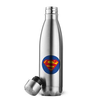 Superman, Μεταλλικό παγούρι θερμός Inox (Stainless steel 304), διπλού τοιχώματος, 500ml