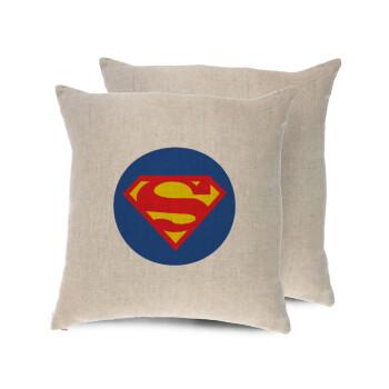 Superman, Μαξιλάρι καναπέ ΛΙΝΟ 40x40cm περιέχεται το γέμισμα