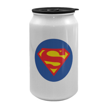 Superman, Κούπα ταξιδιού μεταλλική με καπάκι (tin-can) 500ml