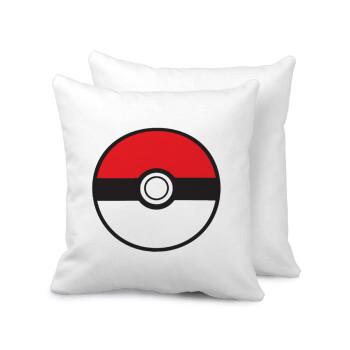 Pokemon ball, Μαξιλάρι καναπέ 40x40cm περιέχεται το γέμισμα