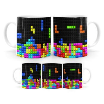 Tetris blocks, Κούπα, κεραμική, 330ml (1 τεμάχιο)
