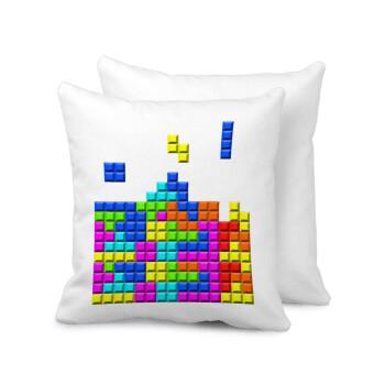 Tetris blocks, Μαξιλάρι καναπέ 40x40cm περιέχεται το γέμισμα