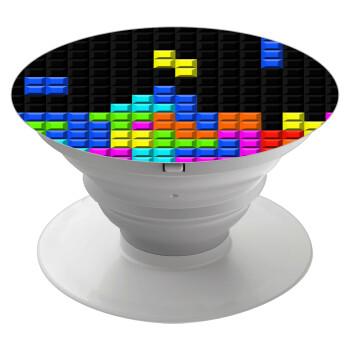 Tetris blocks, Pop Socket Λευκό Βάση Στήριξης Κινητού στο Χέρι