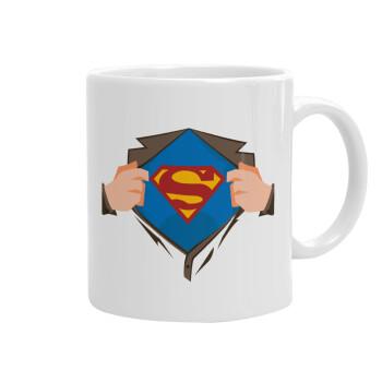Superman hands, Κούπα, κεραμική, 330ml (1 τεμάχιο)