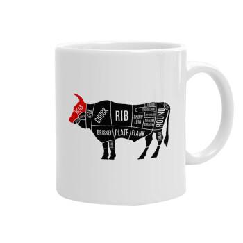 Diagrams for butcher shop, Κούπα, κεραμική, 330ml (1 τεμάχιο)