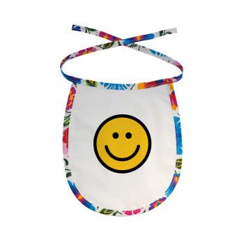 Smile classic, Σαλιάρα μωρού αλέκιαστη με κορδόνι Χρωματιστή