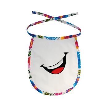 Φατσούλα γελάω!!!, Σαλιάρα μωρού αλέκιαστη με κορδόνι Χρωματιστή