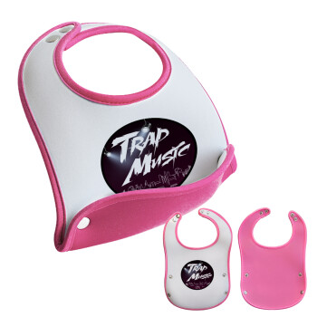 Trap music, Σαλιάρα μωρού Ροζ κοριτσάκι, 100% Neoprene (18x19cm)