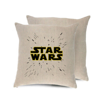 Star Wars, Μαξιλάρι καναπέ ΛΙΝΟ 40x40cm περιέχεται το γέμισμα