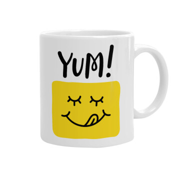 Yum!!!, Κούπα, κεραμική, 330ml (1 τεμάχιο)