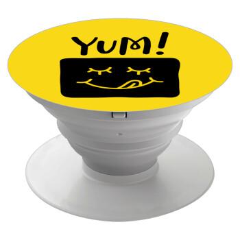 Yum!!!, Pop Socket Λευκό Βάση Στήριξης Κινητού στο Χέρι