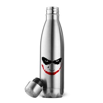 The joker smile, Μεταλλικό παγούρι θερμός Inox (Stainless steel 304), διπλού τοιχώματος, 500ml