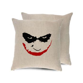 The joker smile, Μαξιλάρι καναπέ ΛΙΝΟ 40x40cm περιέχεται το γέμισμα