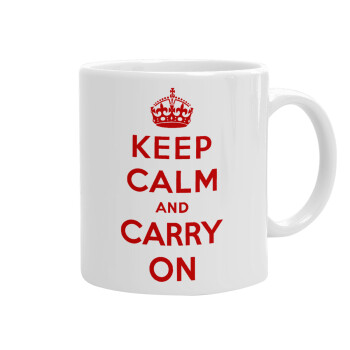KEEP CALM and carry on, Κούπα, κεραμική, 330ml (1 τεμάχιο)