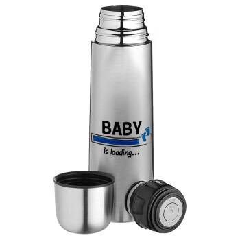 Baby is Loading BOY, Ισοθερμικό παγουρί & θερμό camping από ανοξείδωτο ατσάλι, διπλού τοιχώματος, 750ml