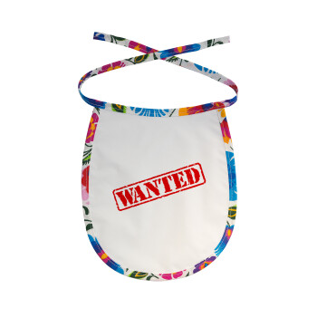 Wanted, Σαλιάρα μωρού αλέκιαστη με κορδόνι Χρωματιστή