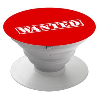 Wanted, Pop Socket Λευκό Βάση Στήριξης Κινητού στο Χέρι
