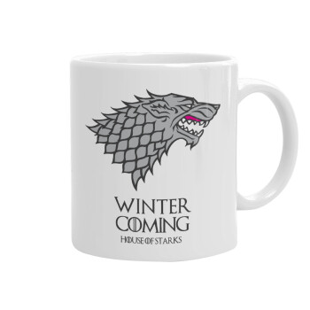 GOT House of Starks, winter coming, Κούπα, κεραμική, 330ml (1 τεμάχιο)