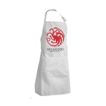 GOT House Targaryen, Fire Blood, Ποδιά μαγειρικής BBQ Ενήλικων