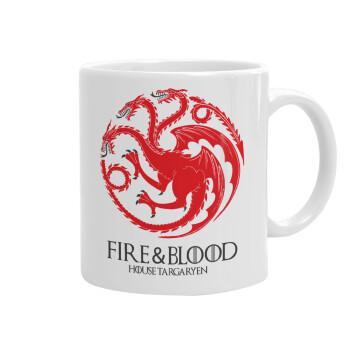GOT House Targaryen, Fire Blood, Κούπα, κεραμική, 330ml (1 τεμάχιο)