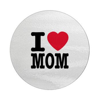 I LOVE MOM, Επιφάνεια κοπής γυάλινη στρογγυλή (30cm)