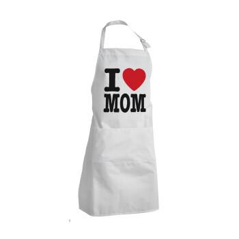 I LOVE MOM, Ποδιά μαγειρικής BBQ Ενήλικων