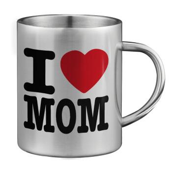 I LOVE MOM, Κούπα ανοξείδωτη διπλού τοιχώματος μεγάλη 350ml