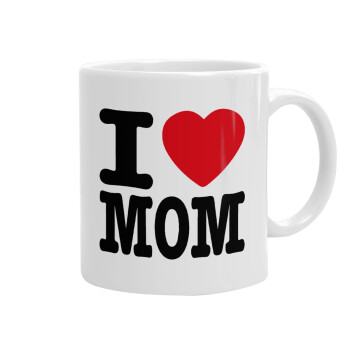 I LOVE MOM, Κούπα, κεραμική, 330ml (1 τεμάχιο)