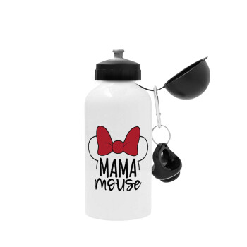 MAMA mouse, Μεταλλικό παγούρι ποδηλάτου, Λευκό, αλουμινίου 500ml
