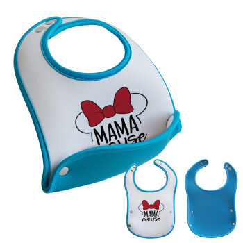MAMA mouse, Σαλιάρα μωρού Μπλε αγοράκι, 100% Neoprene (18x19cm)