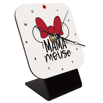 MAMA mouse, Επιτραπέζιο ρολόι ξύλινο με δείκτες (10cm)