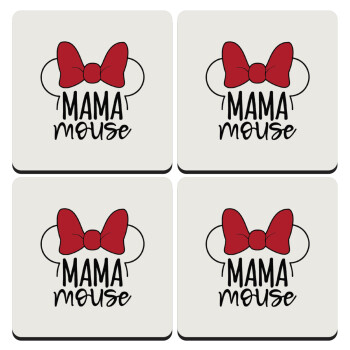 MAMA mouse, ΣΕΤ 4 Σουβέρ ξύλινα τετράγωνα