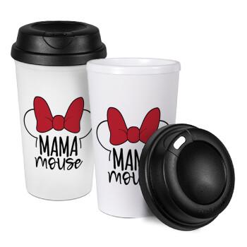 MAMA mouse, Κούπα ταξιδιού πλαστικό (BPA-FREE) με καπάκι βιδωτό, διπλού τοιχώματος (θερμό) 330ml (1 τεμάχιο)