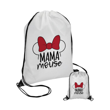 MAMA mouse, Τσάντα πουγκί με μαύρα κορδόνια 45χ35cm (1 τεμάχιο)