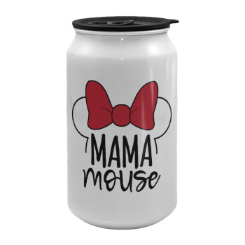 MAMA mouse, Κούπα ταξιδιού μεταλλική με καπάκι (tin-can) 500ml