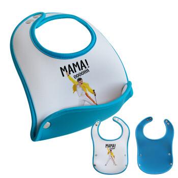 mama ooohh!, Σαλιάρα μωρού Μπλε αγοράκι, 100% Neoprene (18x19cm)