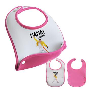 mama ooohh!, Σαλιάρα μωρού Ροζ κοριτσάκι, 100% Neoprene (18x19cm)