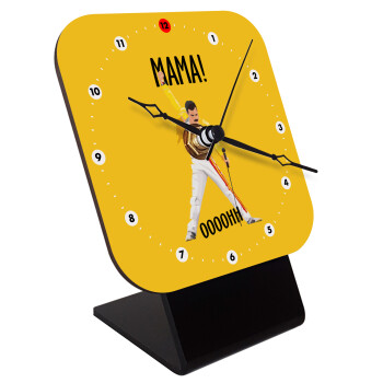 mama ooohh!, Επιτραπέζιο ρολόι ξύλινο με δείκτες (10cm)