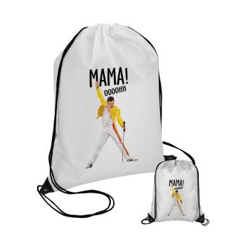 mama ooohh!, Τσάντα πουγκί με μαύρα κορδόνια 45χ35cm (1 τεμάχιο)