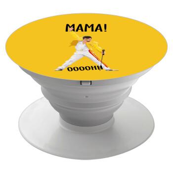 mama ooohh!, Pop Socket Λευκό Βάση Στήριξης Κινητού στο Χέρι
