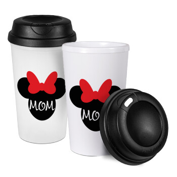 mini mom, Κούπα ταξιδιού πλαστικό (BPA-FREE) με καπάκι βιδωτό, διπλού τοιχώματος (θερμό) 330ml (1 τεμάχιο)