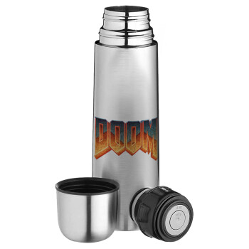 DOOM, Ισοθερμικό παγουρί & θερμό camping από ανοξείδωτο ατσάλι, διπλού τοιχώματος, 750ml
