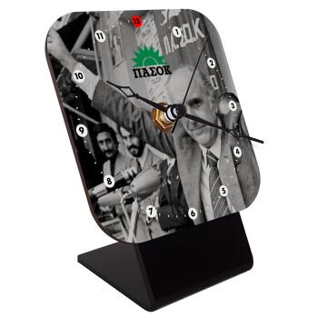 ΠΑΣΟΚ Ανδρέας, Επιτραπέζιο ρολόι ξύλινο με δείκτες (10cm)