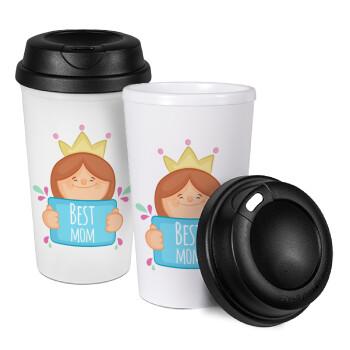 Best mom Princess, Κούπα ταξιδιού πλαστικό (BPA-FREE) με καπάκι βιδωτό, διπλού τοιχώματος (θερμό) 330ml (1 τεμάχιο)