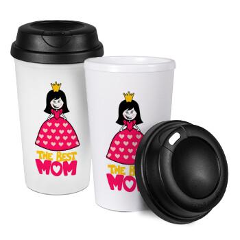 The Best Mom Queen, Κούπα ταξιδιού πλαστικό (BPA-FREE) με καπάκι βιδωτό, διπλού τοιχώματος (θερμό) 330ml (1 τεμάχιο)